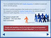 Logo for Health Disparities:  People with Developmental Disabilities
